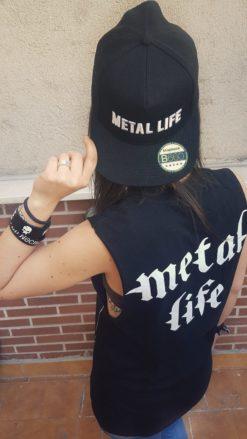 Gorra Metal Life trasera