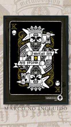 Metalovision - Lámina Poker Card - Metal Life