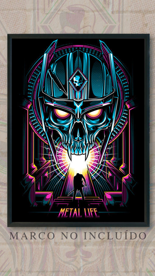 metalovision - Lamina 80's Skull - Metal Life
